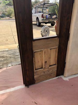 door staining Temecula