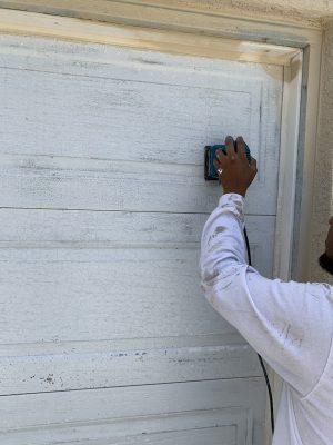 Stripping Garage Door to Aluminum