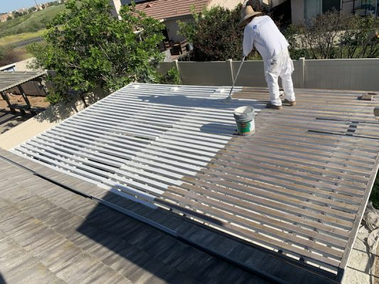 Patio Cover Painting