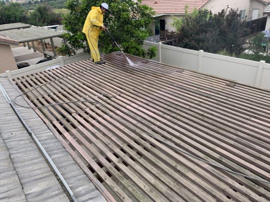 pressure washing patio cover